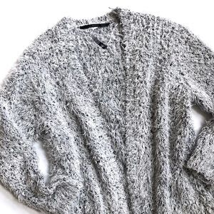 Kensie fuzzy cardigan sweater